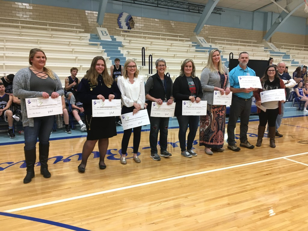 Teachers with Community Foundation Checks