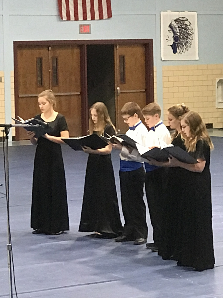 MS Choir performance at Winter Concert