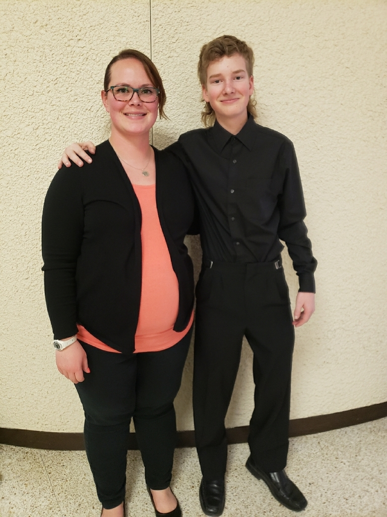 Alex Young with Mrs. Leitnaker after his All-State Concert.